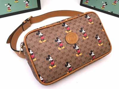 gucci Disney米奇图案男女通用腰包602695
