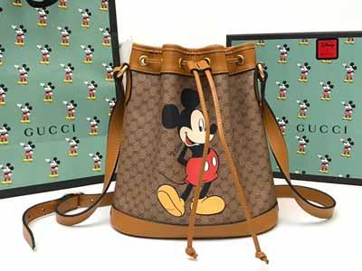 古驰小红书热门款Disney真香系列水桶包602691