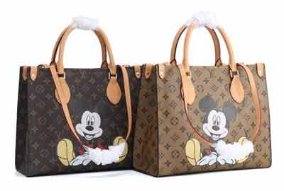 今年鼠年LV大神打造的米老鼠ONTHEGO购物袋 M44569 出游必备