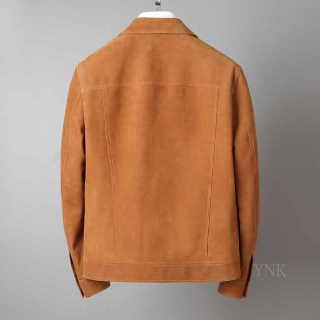 LV2020秋冬年最新款皮夹克 男士反绒绵羊皮翻领皮衣外套