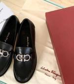 Ferragamo菲拉格慕Gancini金属装饰双面扣穆勒鞋拖鞋