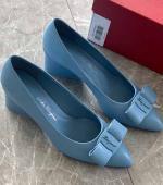 Ferragamo最新款糖果色系尖头浅口Viva芭蕾舞鞋