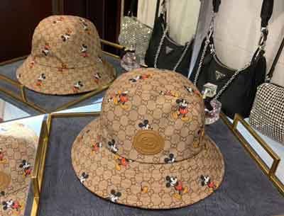 Gucci x disney 迪士尼联名男女同款米奇渔夫帽