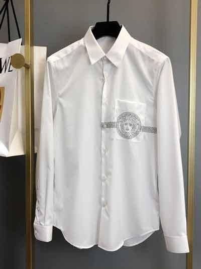 Versace 2020春夏系列新品纯色长袖衬衣(尺码大小/多